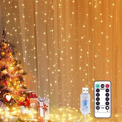 LED Lichternetz Garten romantisch Lichterkette Weihnachten Weihnachtsfest Deko