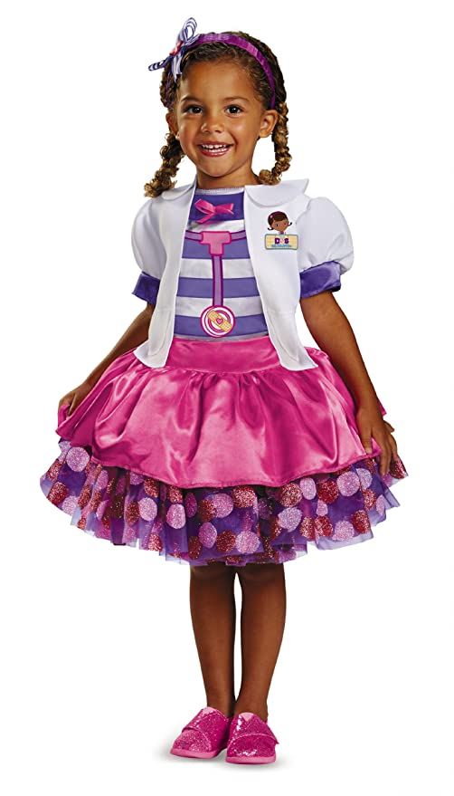 Disney Doc Mcstuffins Tutu Deluxe Toddler Costume, Medium/7-8