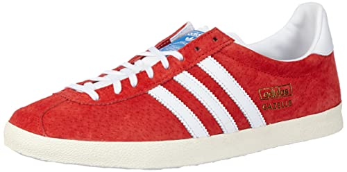 finest selection 2106a d6497 adidas Originals Mens Gazelle Og Red and White Sneakers ...