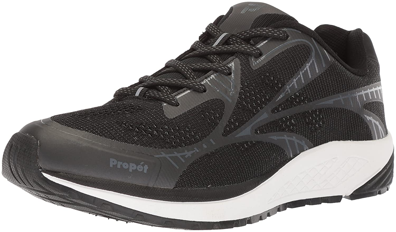 Propét Women's Propet One Lt Sneaker B073DPGKGH 12 W US|Black/Grey/Black