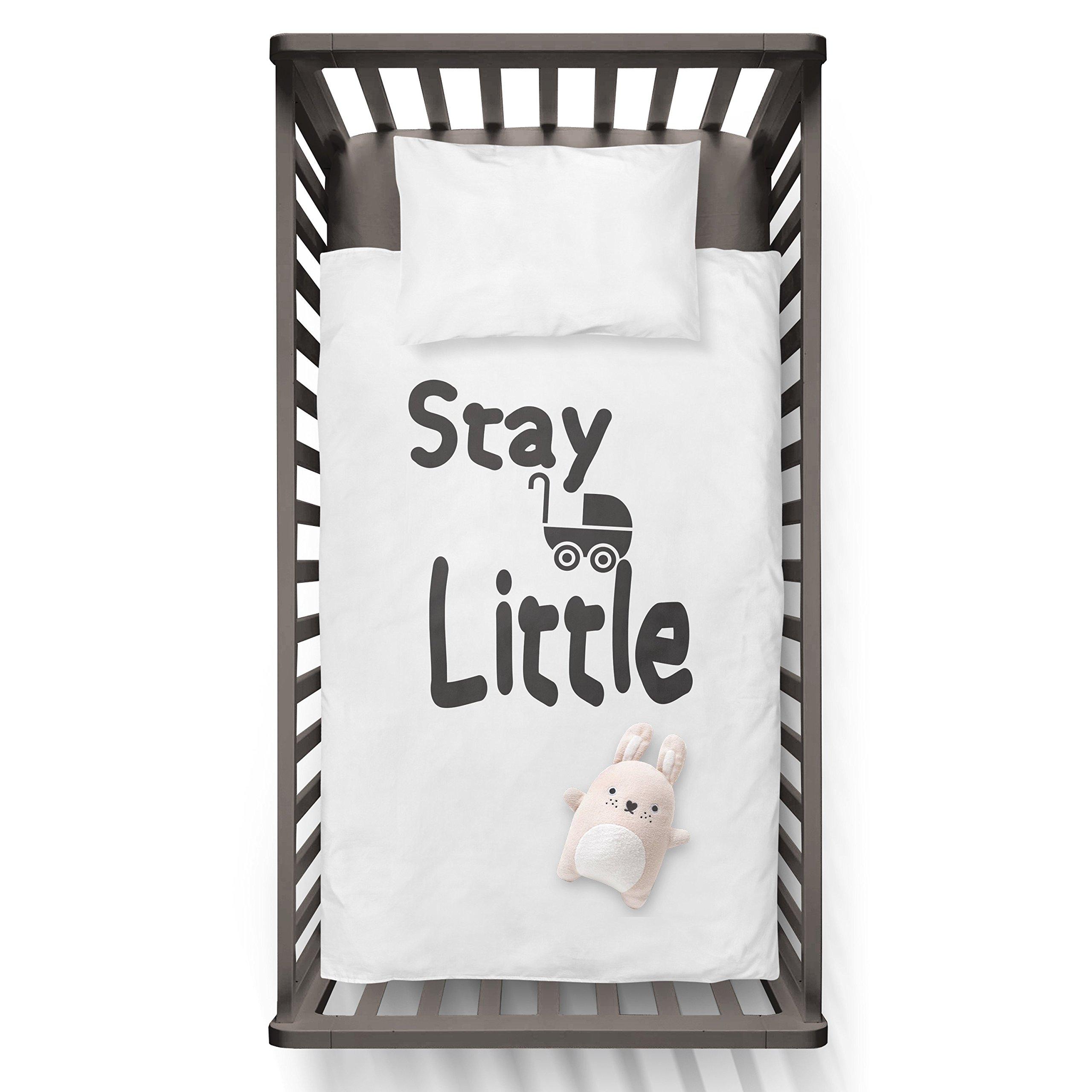 Stay Little Funny Humor Hip Baby Duvet /Pillow set,Toddler Duvet,Oeko-Tex,Personalized duvet and pillow,Oraganic,gift