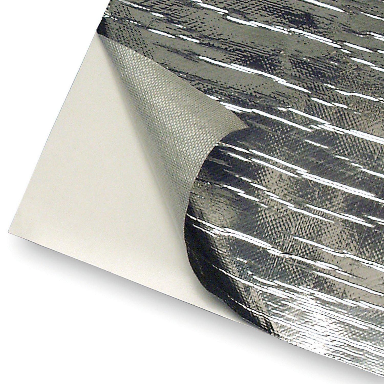 Aluminum Fiberglass Air Intake Tube Heat shield Adhesive Backed Heat barrier x 24 HM/&FC 12 IN IN