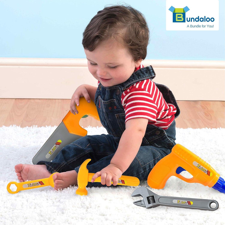 Bundaloo Kids Tool Set Construction Toy Theme 20 Pieces