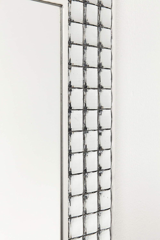 Specchio con cristalli 80x60cm Cromato. Kare Design