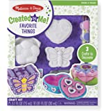 Melissa & Doug Created by Me! Favorite Things Craft Kits Set: Decorate-Your-Own Flower and Heart Treasure Boxes and Butterfly