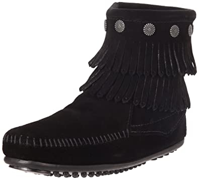 Minnetonka Women s Double Fringe Side Zip Boot 39843c379762