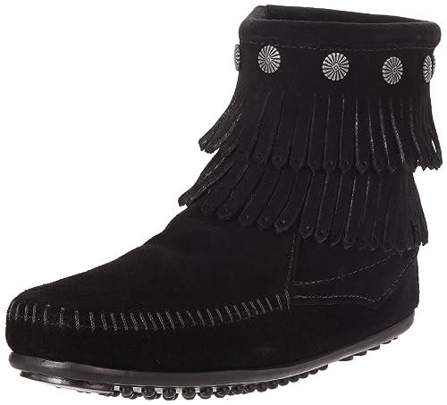 0ef495c4877eb Minnetonka Women's Double-Fringe Side-Zip Boot