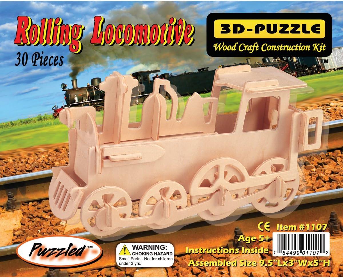Puzzled Train 3D Jigsaw Puzzle 30-Piece 9.5 x 3 x 5