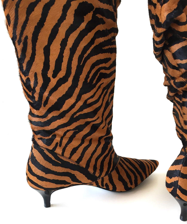 Zara Animal Print 7000001 Botas de Piel para Mujer, Color
