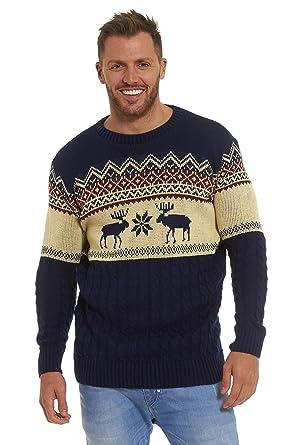 Christmas Xmas Jumper Sweater Mens Ladies Unisex Fairisle Reindeer ...