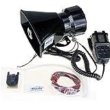 Xinghao Voiture sirène Haut-parleur, 12V 80W 7Tone son véhicule sirène Corne de véhicule avec micro Haut-parleur PA Système d'urgence amplificateur de son