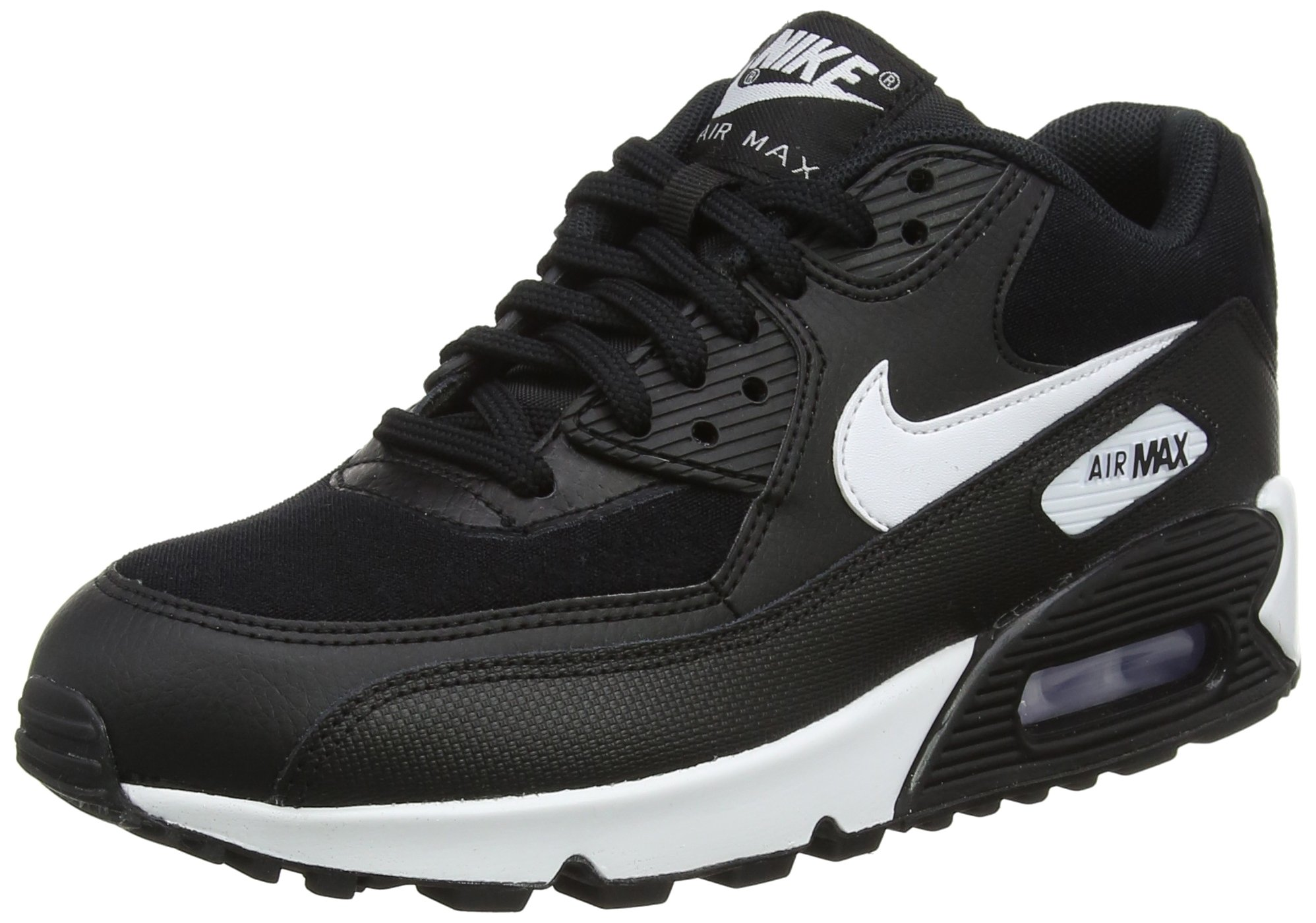 NIKE Women's Air Max 90 Black/White Running Shoe 8.5 Women US
