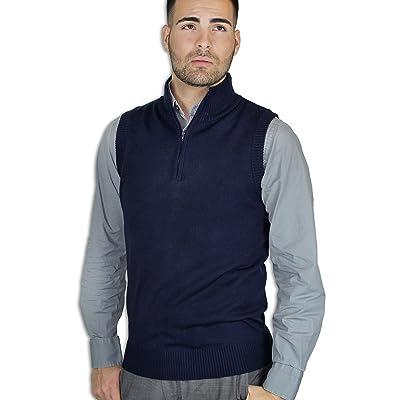 Blue Ocean Sweater Vest Half-Zipper