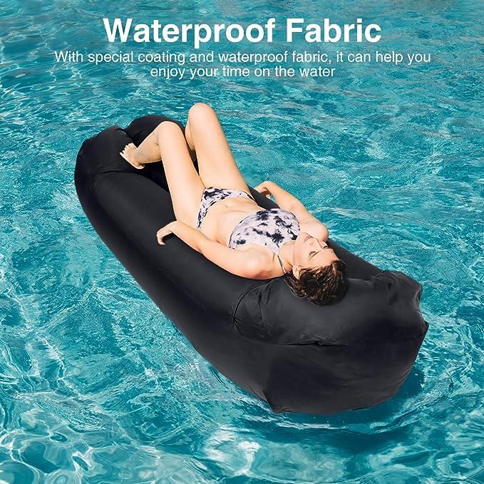 Amazon.com: xmund tumbona inflable sofá de aire hammock ...