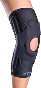 DonJoy Lateral J Patella Knee Support Brace with Hinge: Drytex, Left Leg, Small