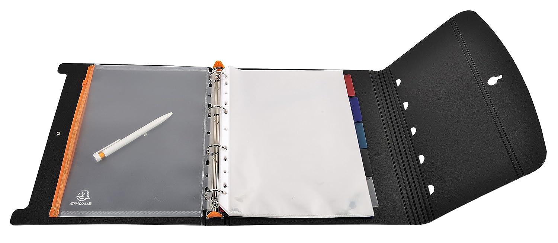 Classeur de pr/ésentation portrait en polypropyl/ène 30 mm A4 4 anneaux 56234E Exactive Exacompta