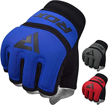 Pair Kickboxing Bandage Tape Wrist Hand Protector Fist Punching Gloves Blue