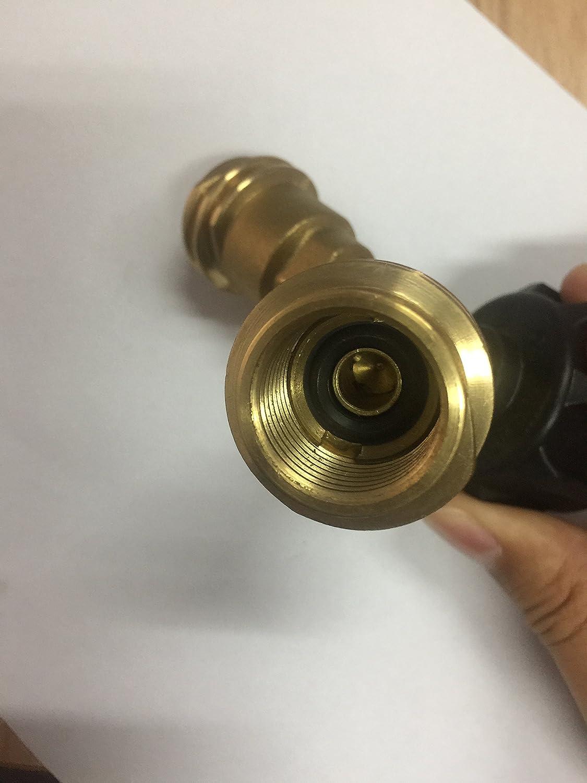 Propano Gas QCC1 (latón, T adaptador divisor para aparatos para propano, calentador, barbacoa: Amazon.es: Jardín