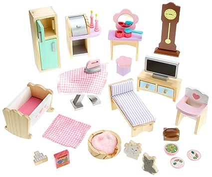 Amazon Com Kidkraft Doll House Furniture Set 28 Pieces Toys Games