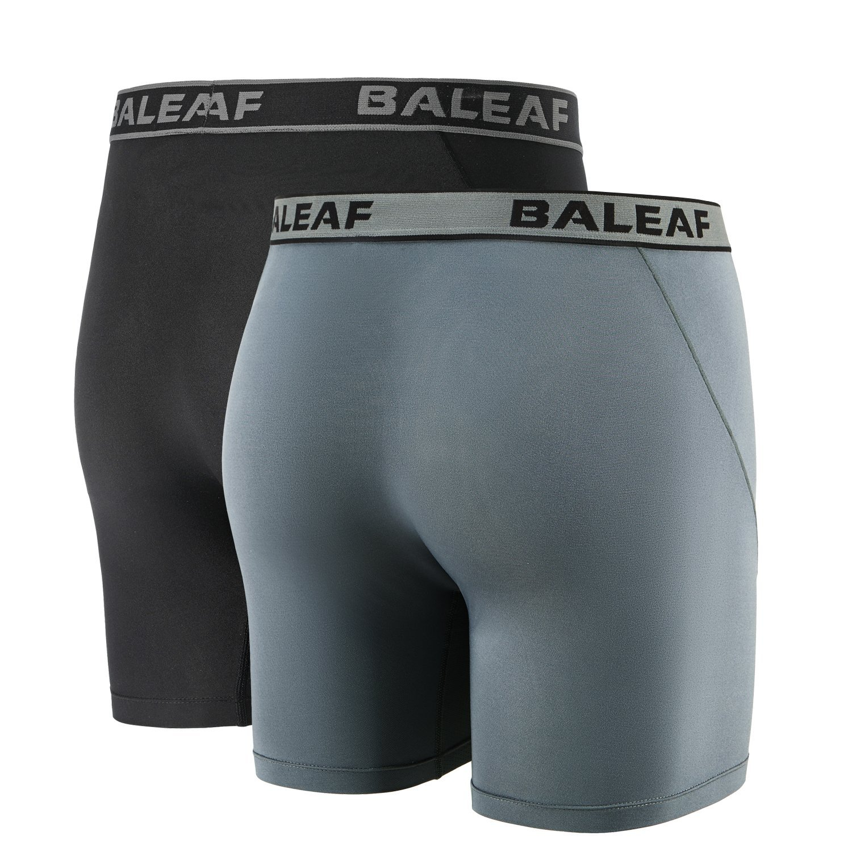 Baleaf Mens 6 Sport Boxer Briefs Performance Underwear 2-Pack