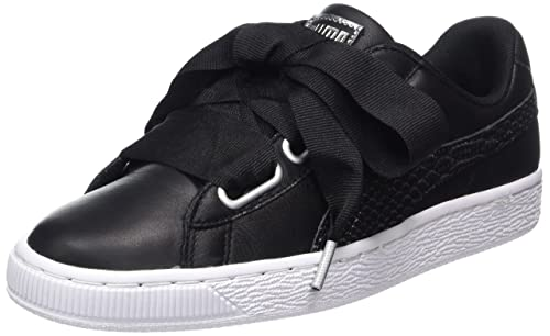 new products 83409 b531f Puma Women's Basket Heart Oceanaire WN's Black White ...