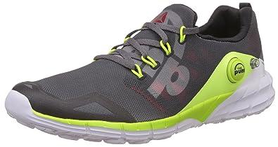 29c23544878b3 Reebok Boy's Zpump Fusion 2.0 Grey, Yellow, Black and White Sports Shoes -  1.5