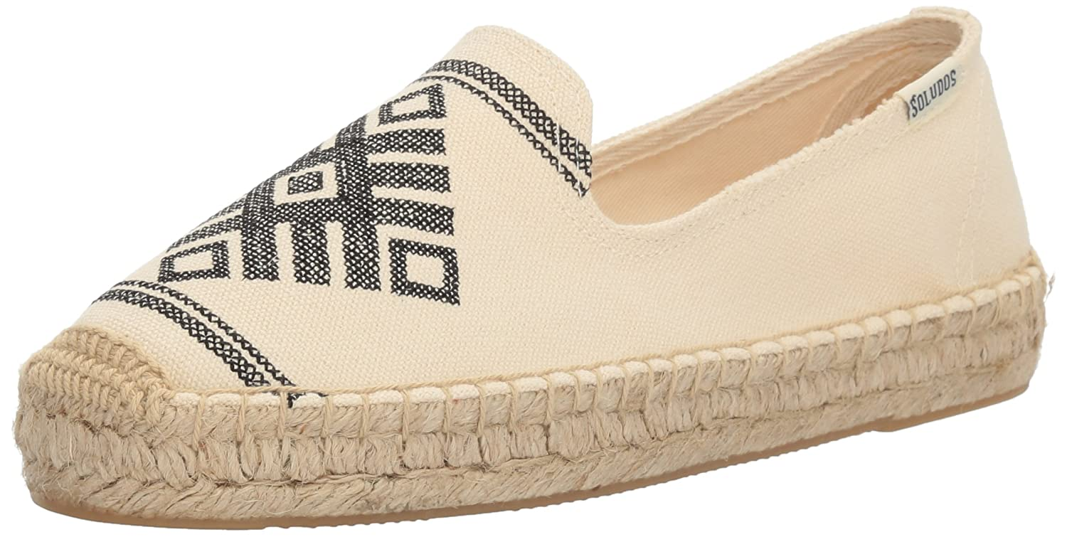 Soludos Women's Yucatan Smoking Slipper Flat B01MZ6NMPQ 5.5 B(M) US|Natural