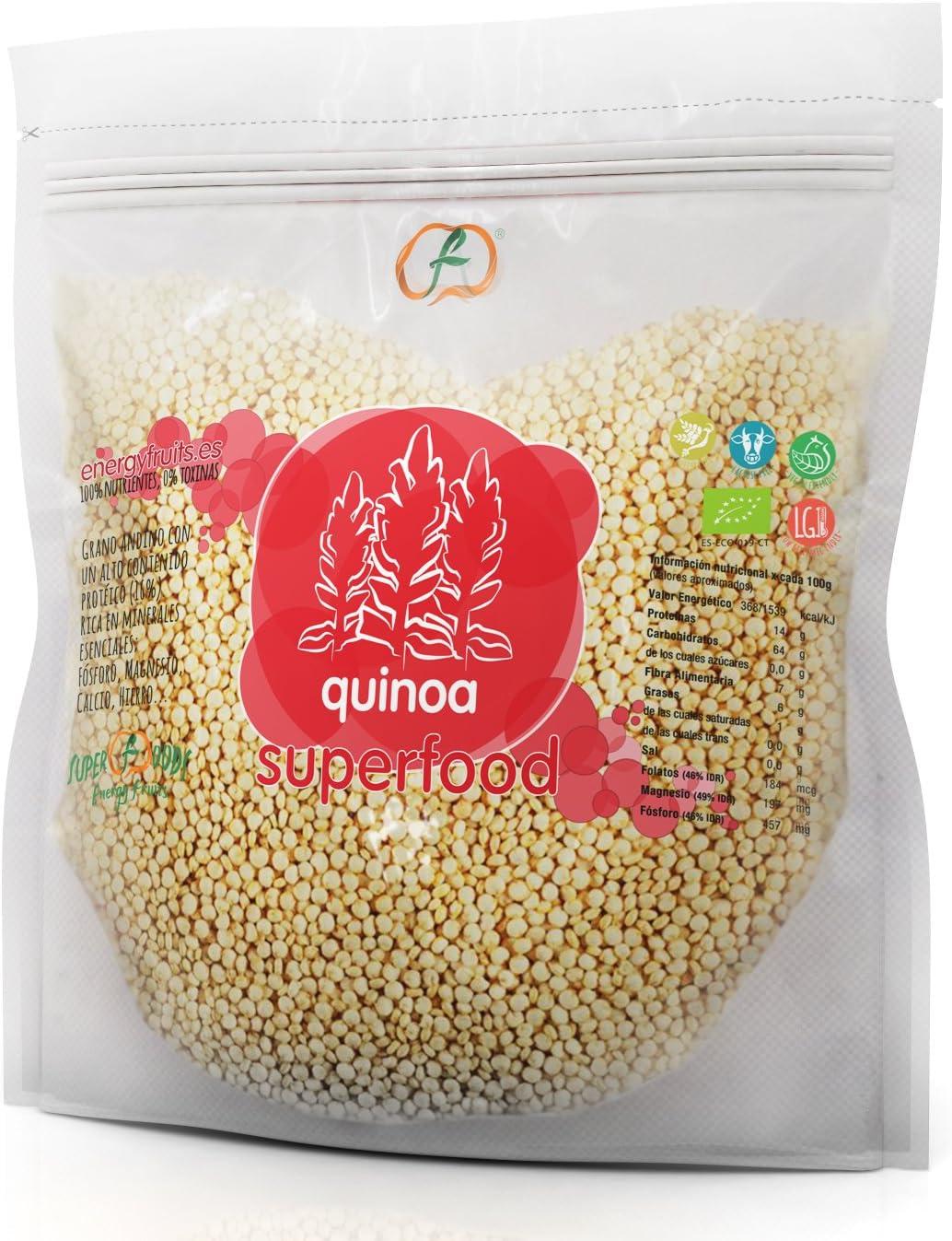 QUINOA grano ECO: (1 kg) XXL pack: Amazon.es: Salud y ...