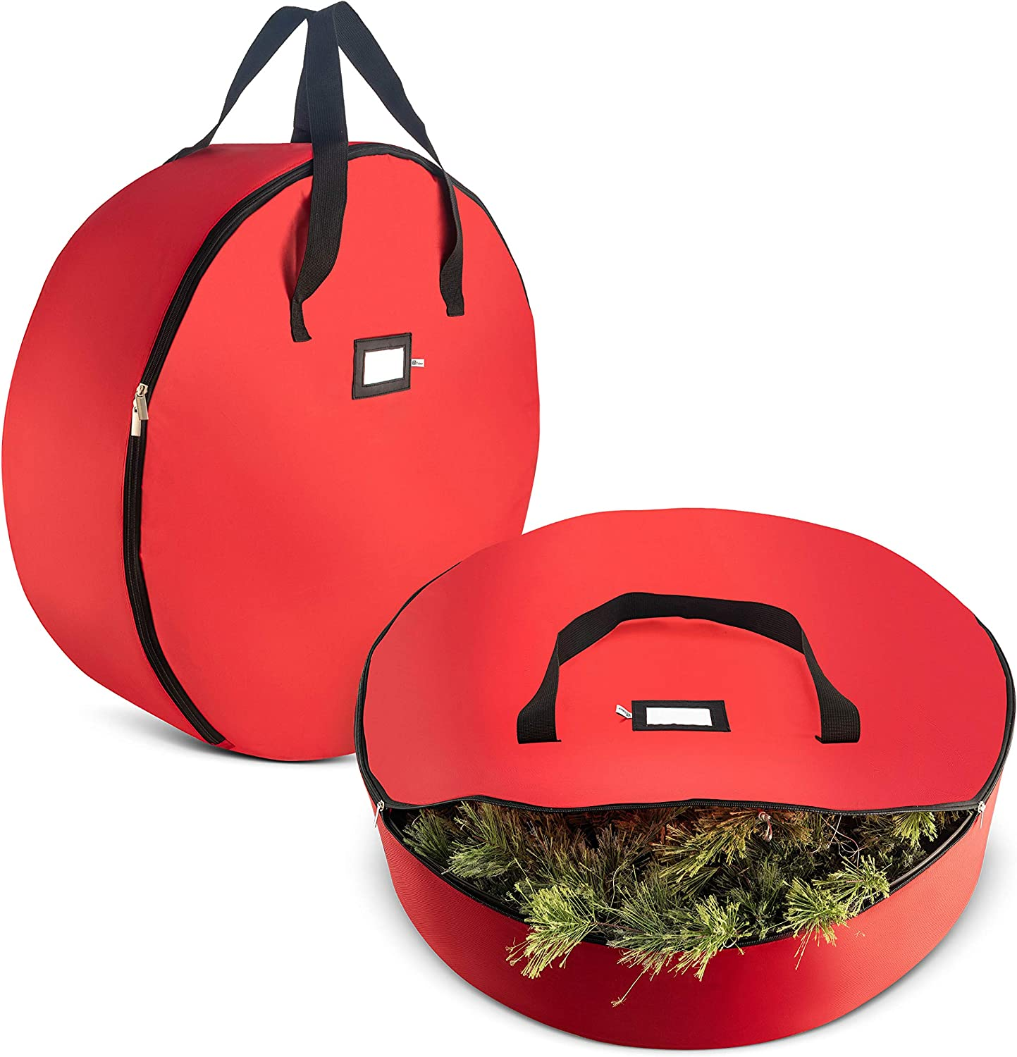 36 Inches Xmas Holiday Wreath Container Organiser Holder with Handles,Zippered Protect Wreath from Dust Moisture Xmas//Christmas Wreath Storage Bag