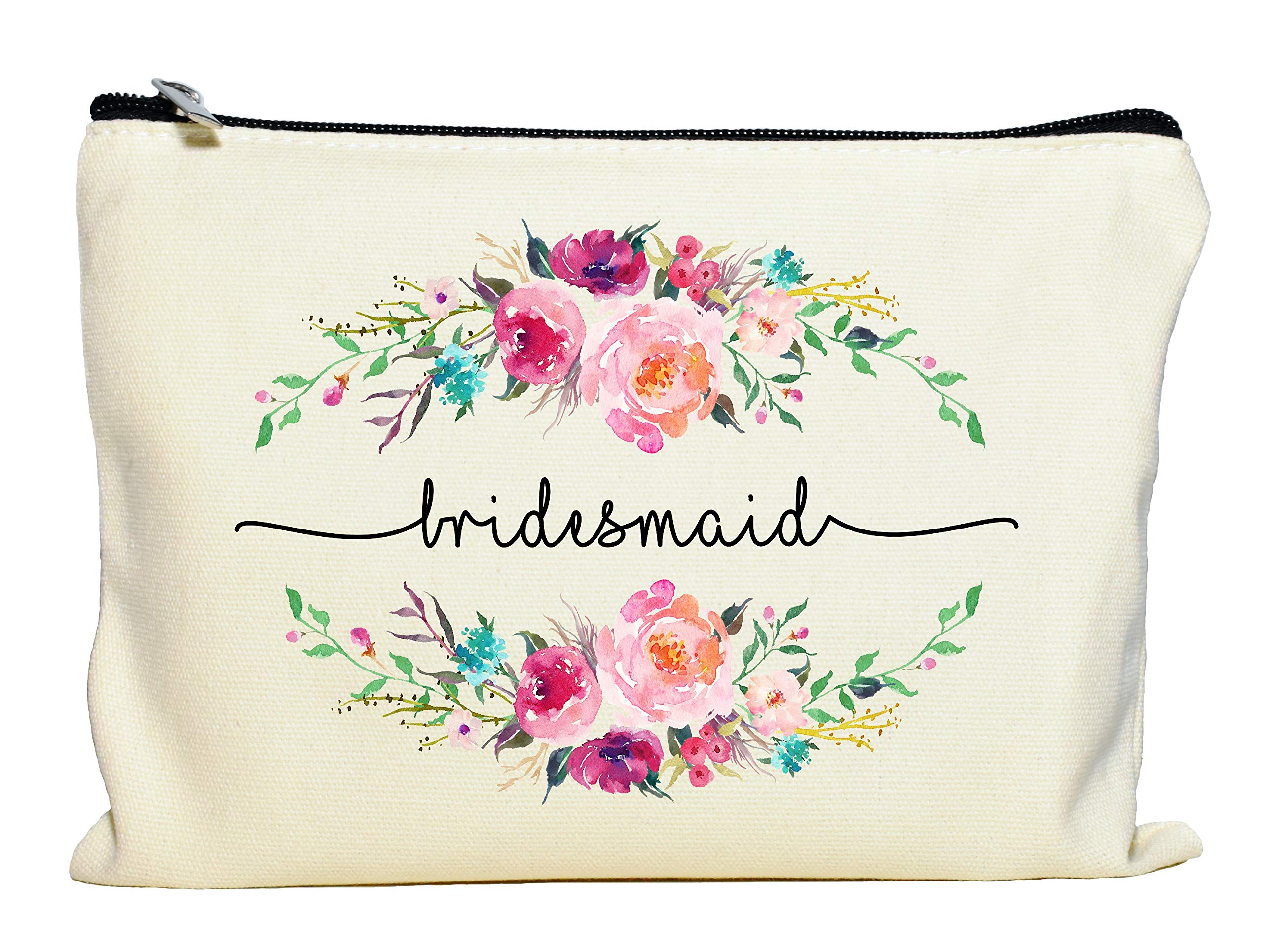 Bridesmaid Makeup Bag, Bridesmaid Gift, Bridal Party Favor, Cosmetic Pouch, Wedding Party
