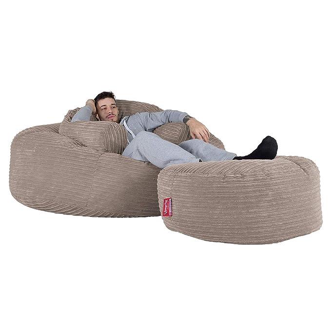 Lounge Pug®, Puff Gigante Mega-Mamut, Pana Clásica - Visón ...