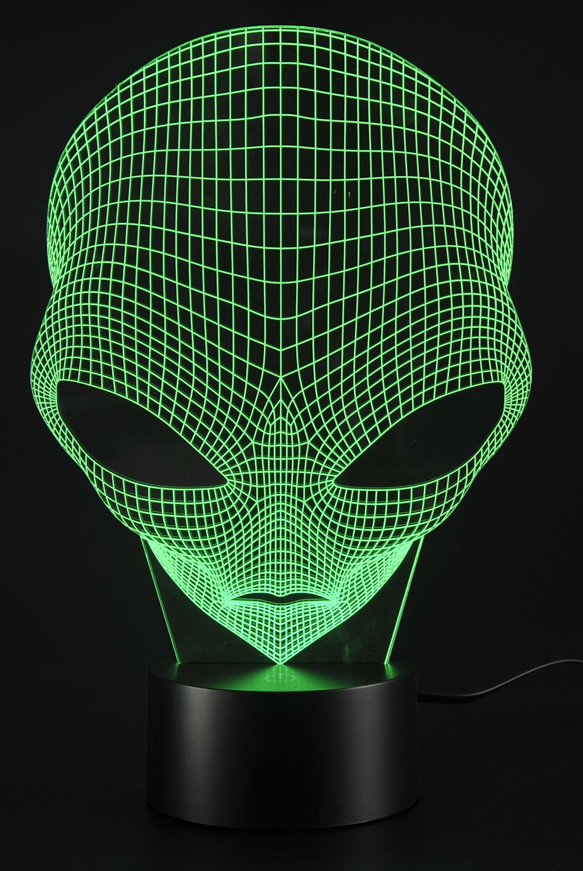 PowerTRC Lamp USB Power 7 Colors Amazing Optical Illusion 3D Grow LED Lamp Alien Shapes Children Bedroom Night Light