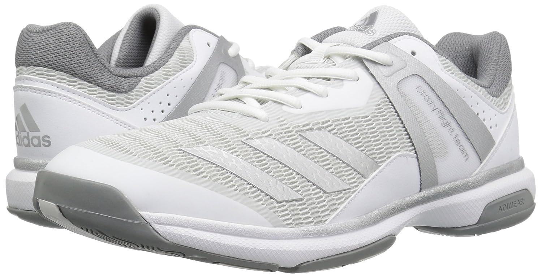 new products 37951 44284 Zapatillas de voleibol de equipo Crazyflight para mujer de adidas Originals  Blanco   Plata Metálico   Gris Tres