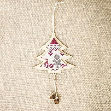 06e74dc9 Amazon.com: JEWH [1pc Wooden Art Craft - Christmas Pendant ...