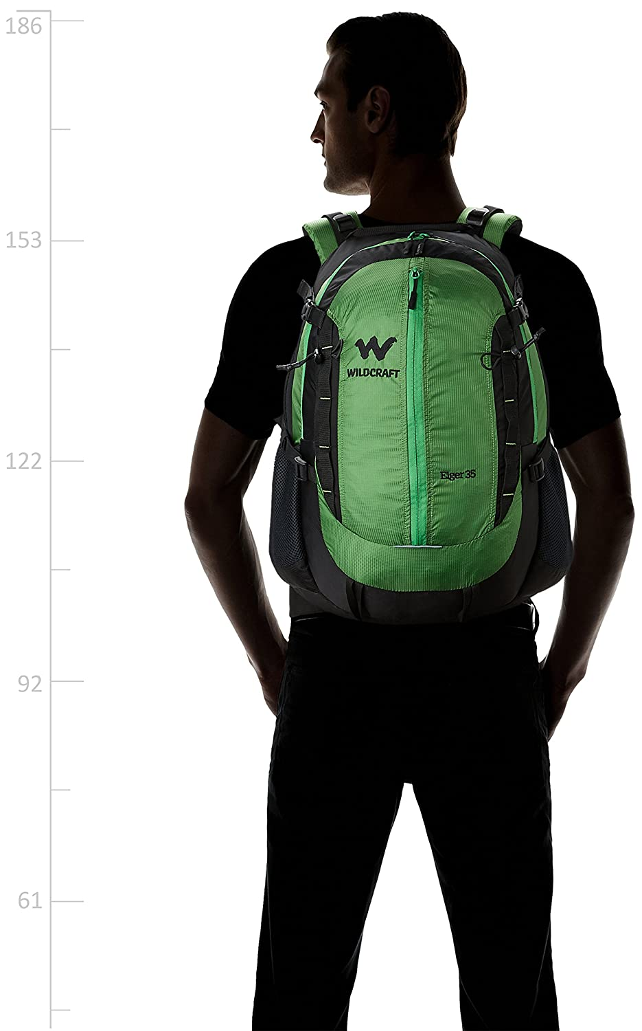 bd701ba6b2 Wildcraft 35 Liters Green Hiking Backpack (Eiger Plus Green)  Amazon.in   Bags