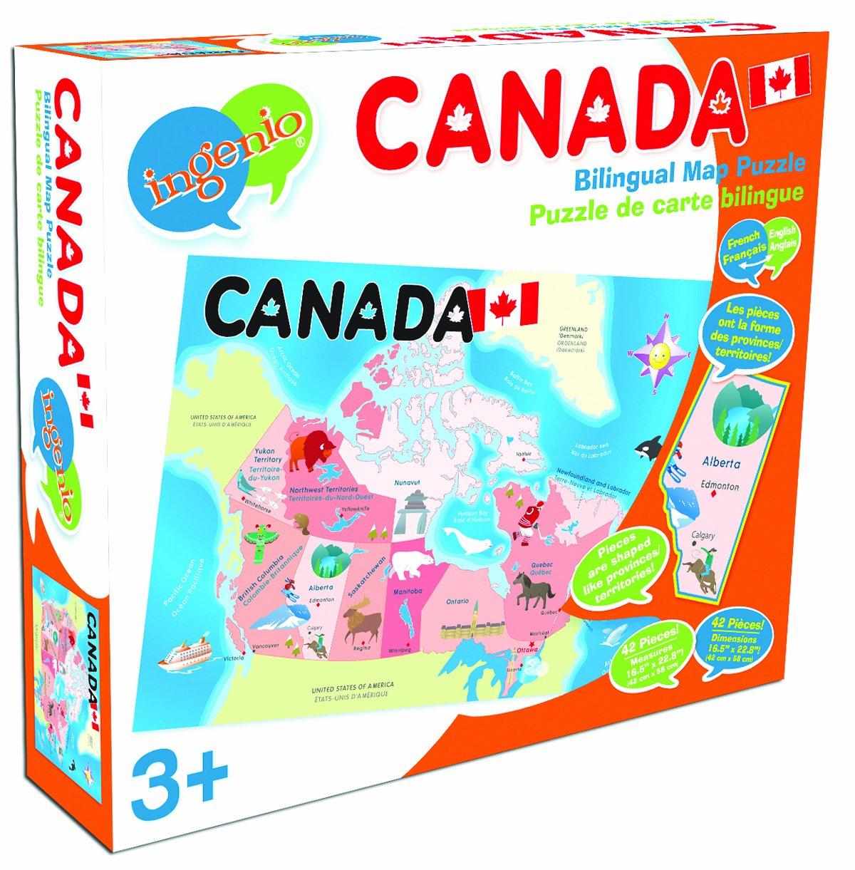 Amazoncom Ingenio Canada Map Floor Puzzle Toys Games - Canada map puzzles