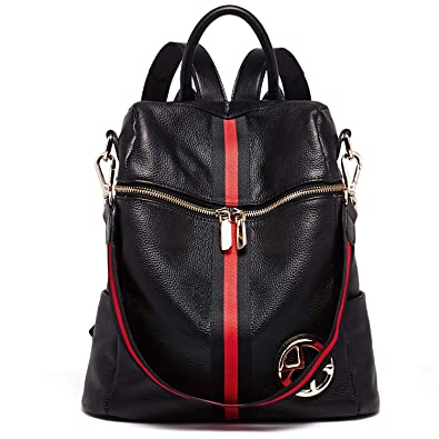 0c1151a5323 BOSTANTEN Geniune Leather Backpack Purse Fashion Casual College Shoulder  Bags for Women