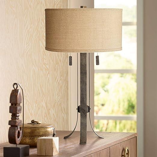 Amazon.com: Pullman 2-Light Lámpara de mesa de hierro ...