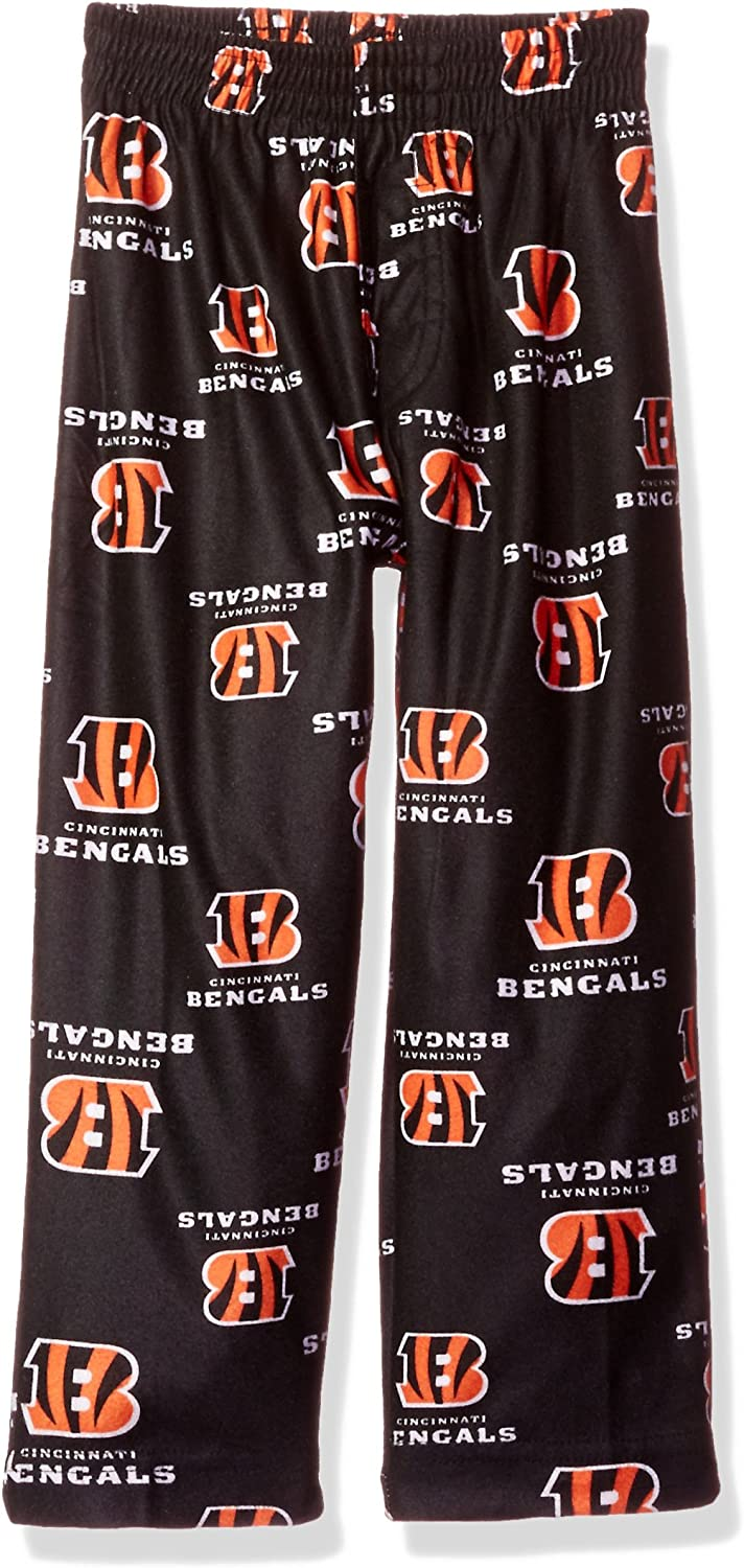 2T NFL Toddler Bengals Sleepwear All Over Print Pant Black