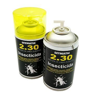 Insecticida Profesional Seymatic 2.30, con Piretrinas sintéticas y naturales. Mata fulminantemente Moscas, Mosquitos y cualquier insecto volador.