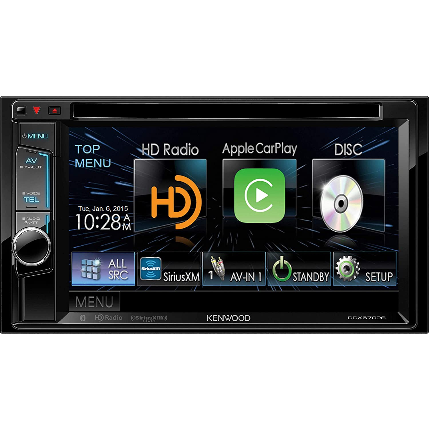 Kenwood Ddx6702s 62 Dvd Receiver With Apple Carplay Car Stereo Audio Bluetooth And Hd Radio Electronics