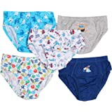 JSR Kids Boys Briefs Underwear Pack of 5 Plain Solid and Printed Mix(13-18years Solid Plain Colors only) Cute Colors 100% Soft Cotton(Under Elastic)