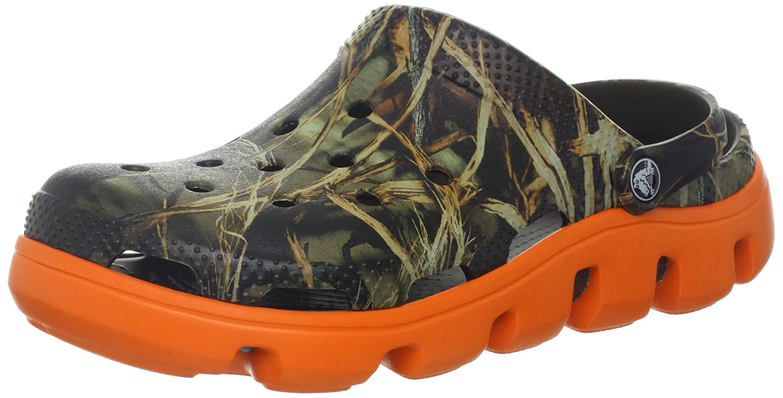 f8f00f8156e69 Amazon.com | crocs Men's Duet Sport Realtree Clog, Chocolate/Orange, 4 M US  | Mules & Clogs