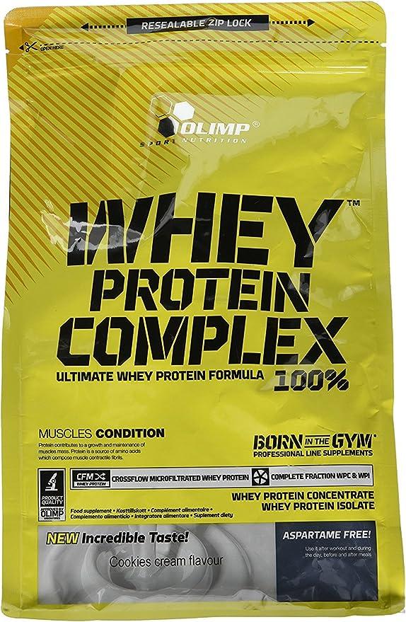 Olimp Sport Nutrition Proteína Whey Protein Complex con Sabor 100% Crema de Galletas - 700 g