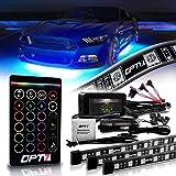 OPT7 Aura Underglow Flexible Lighting Kit for Cars Trucks RV w/Wireless Remote, Exterior Underbody Neon LED Light Strips, Mul