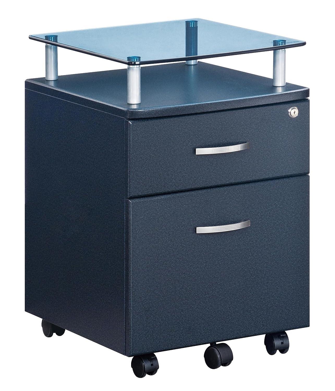 Amazon.com : TECHNI MOBILI Seguro Mobile 2 Drawer File Pedestal In Graphite  : Vertical File Cabinets : Office Products