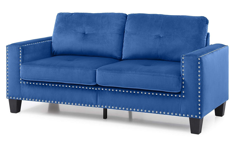 Amazon.com: Glory Furniture Nailer G313A-S Sofa, Navy Blue. Living ...