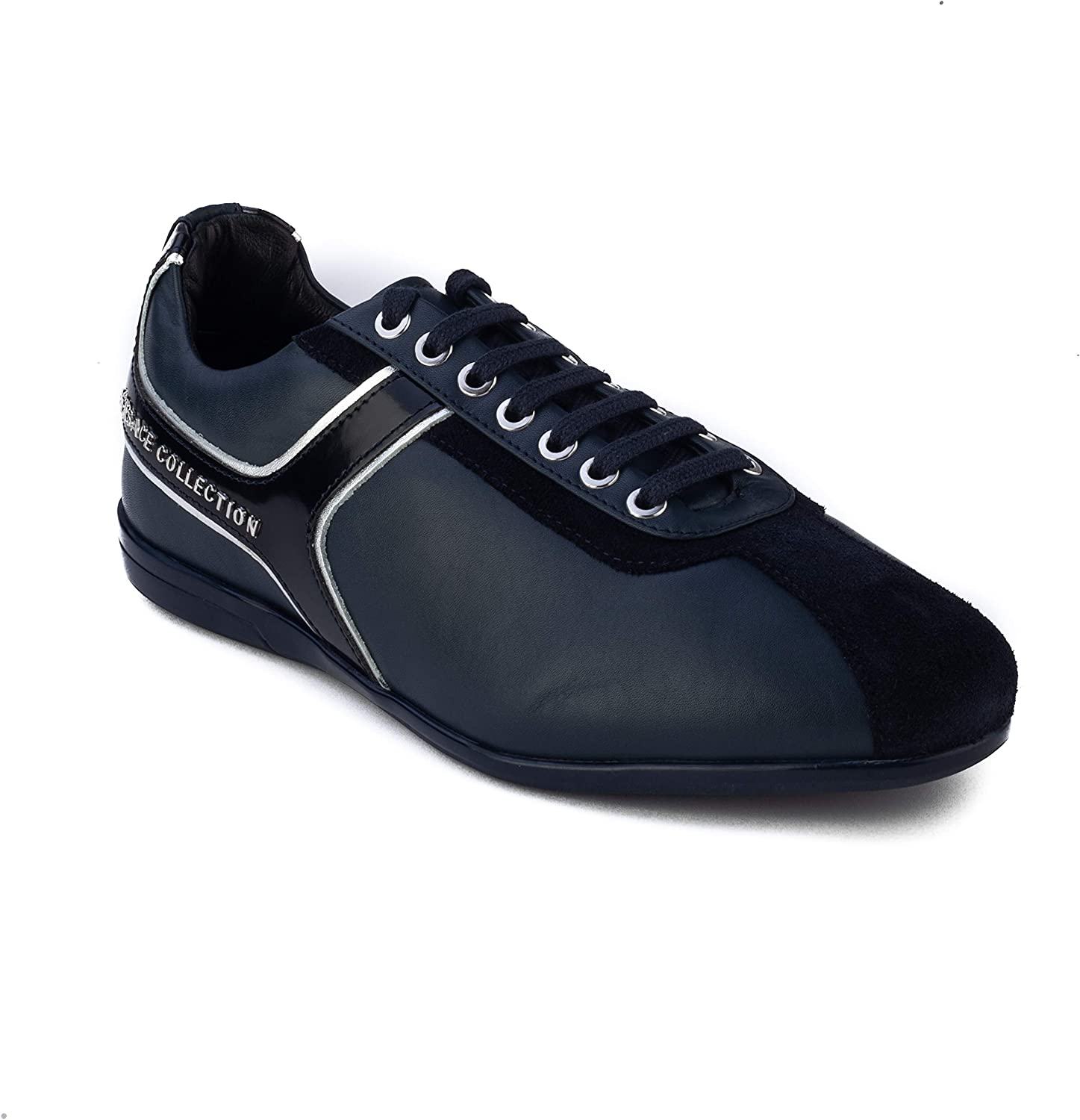 Versace Collection LOGO Men/'s shoes Fashion Sneakers Leather 100/% AUTHENTIC