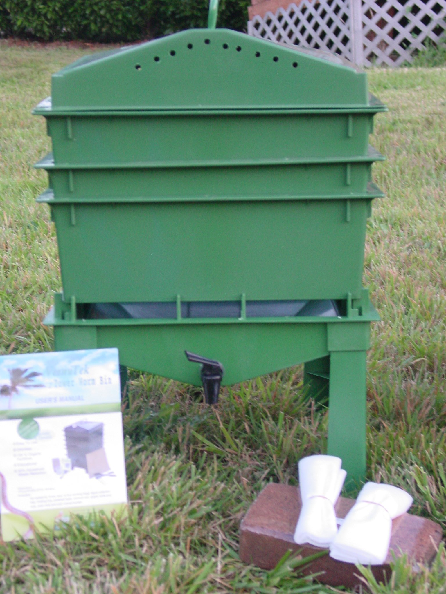 4-Tray Worm Compost Bin iTower-Green