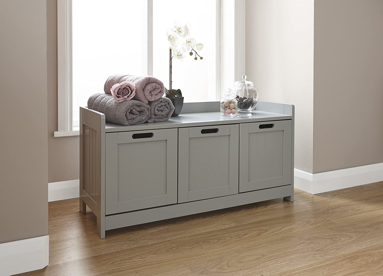 Large Grey Sideboard Low Cabinet Bathroom Bedroom Hallway ...